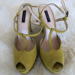 Shoemint Lime Green Suede Stilettos Size 37.5